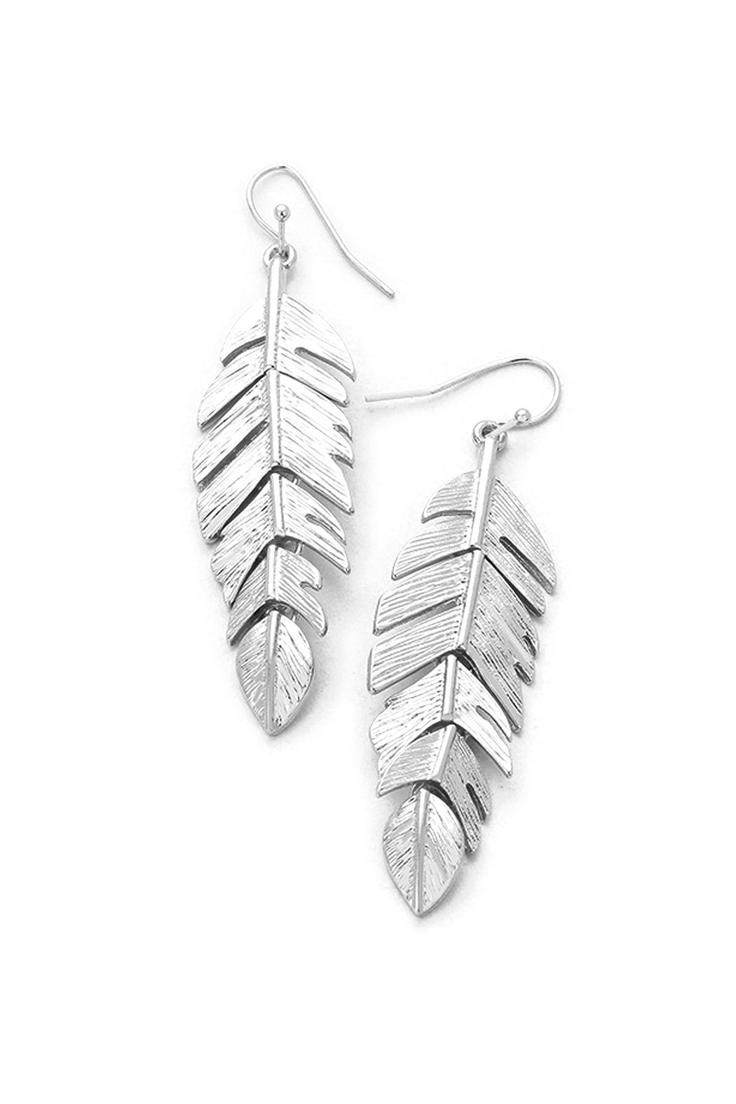 Wild Lilies Jewelry  Silver Feather Earrings - Main Image