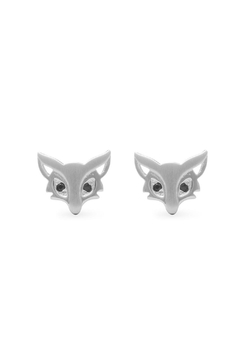Shoptiques Product: Silver Fox Studs Eaarings
