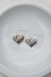 Wild Lilies Jewelry  Silver Heart Earrings - Product Mini Image