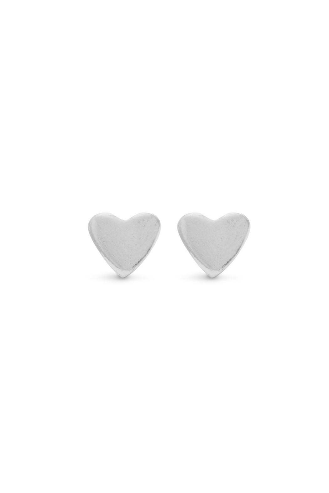 Wild Lilies Jewelry  Silver Heart Studs - Main Image