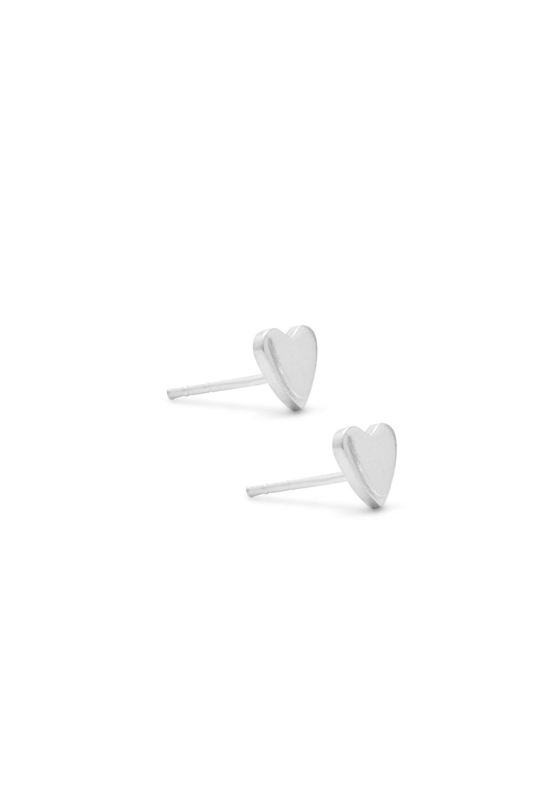 Wild Lilies Jewelry  Silver Heart Studs - Front Full Image