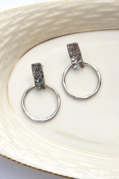 Wild Lilies Jewelry  Silver Hoop Earrings - Product List Image