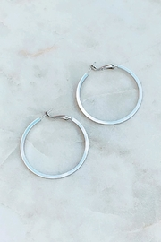 Wild Lilies Jewelry  Silver Hoop Earrings - Product Mini Image