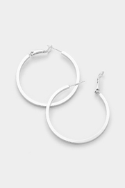 Wild Lilies Jewelry  Silver Hoop Earrings - Front full body
