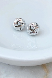 Wild Lilies Jewelry  Silver Knot Studs - Product Mini Image