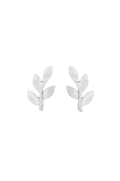 Wild Lilies Jewelry  Silver Leaf Studs - Product List Image