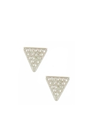 Wild Lilies Jewelry  Silver Triangle Earrings - Front cropped