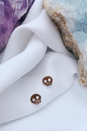 Wild Lilies Jewelry  Skull Stud Earrings - Product Mini Image