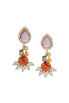 Shoptiques Product: Spiked Gem Earrings