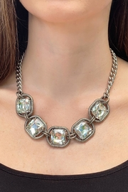 Wild Lilies Jewelry  Square Crystal Necklace - Front cropped