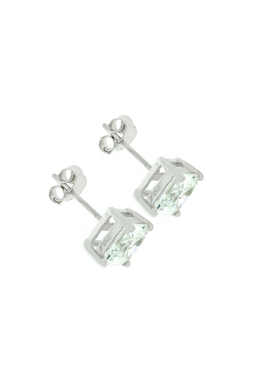 Wild Lilies Jewelry  Square Cz Earrings - Front Full Image