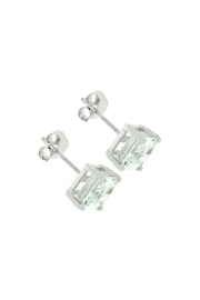 Wild Lilies Jewelry  Square Cz Earrings - Front full body