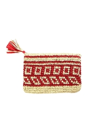 Wild Lilies Jewelry  Square Straw Clutch - Front cropped
