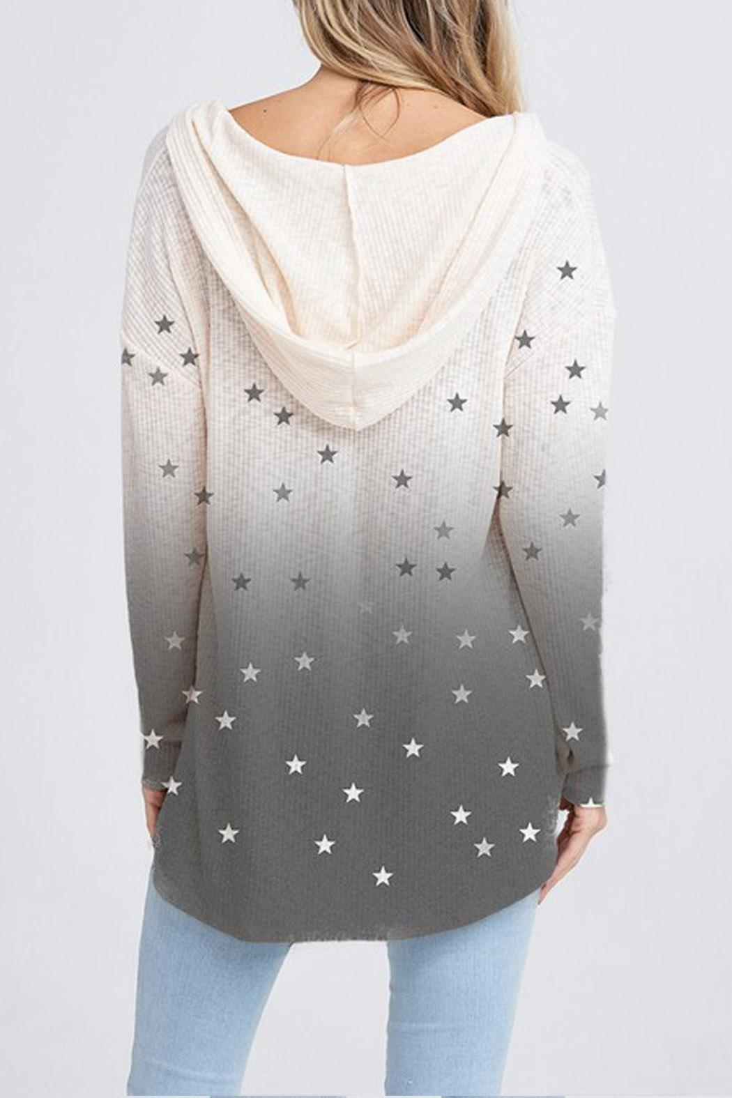 Wild Lilies Jewelry  Star Thermal Hoodie - Front Full Image
