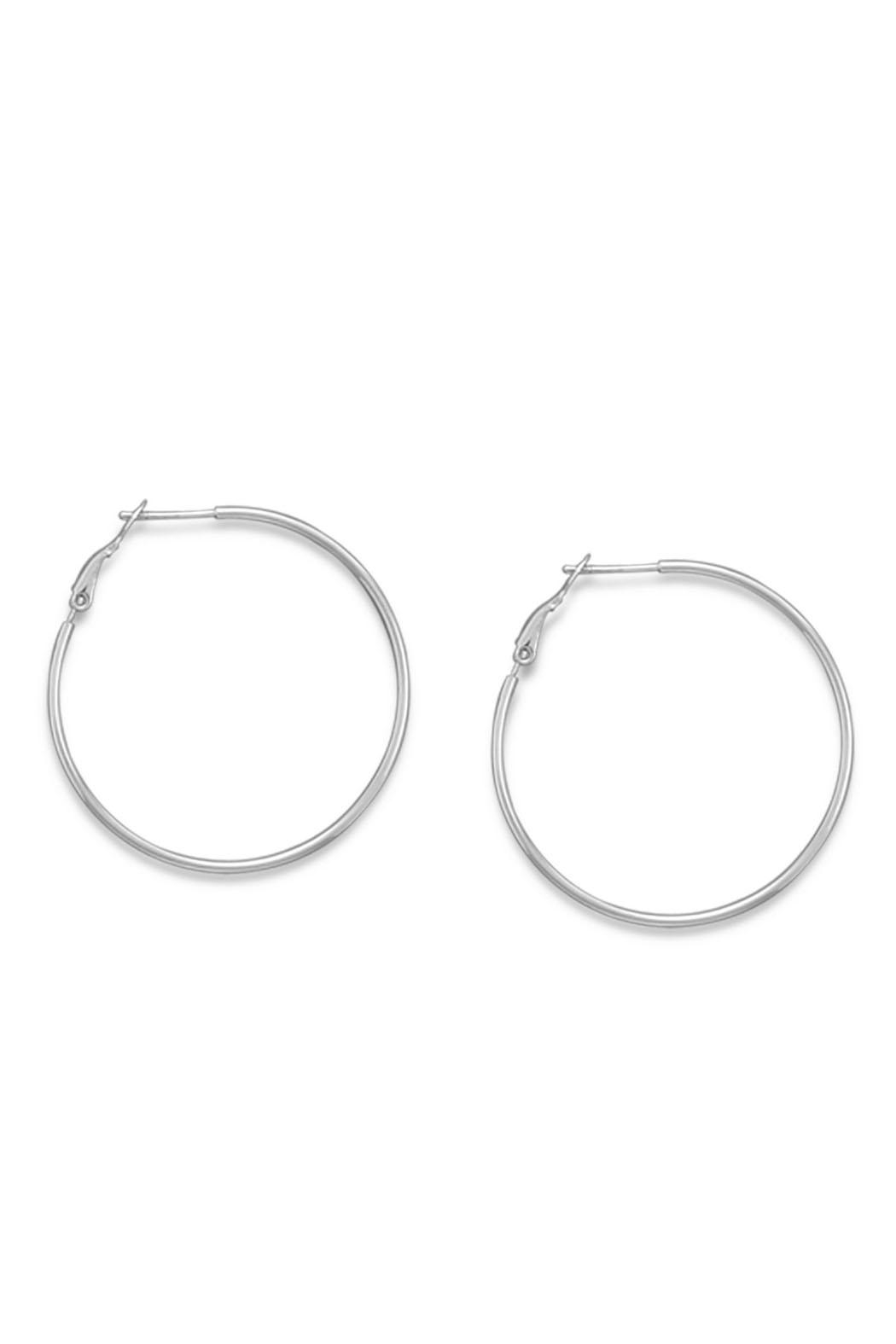 Wild Lilies Jewelry  Sterling Hoop Earrings - Front Cropped Image
