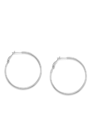Wild Lilies Jewelry  Sterling Hoop Earrings - Front cropped