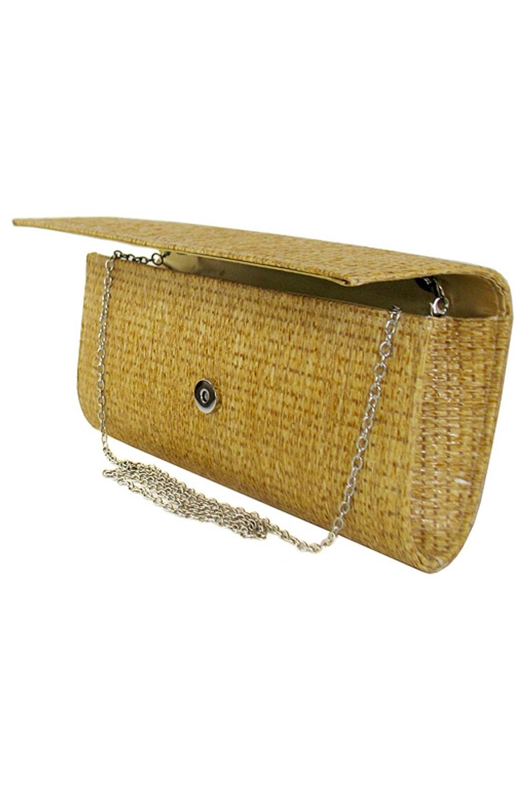Wild Lilies Jewelry  Straw Envelope Clutch - Front Full Image