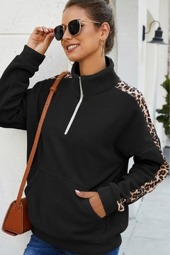 Wild Lilies Jewelry  Stripe Fleece Sweater - Product List Image
