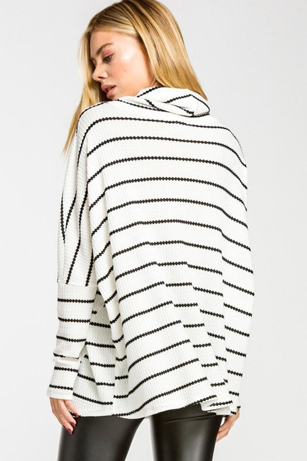 Wild Lilies Jewelry  Striped Cowl Turtleneck - Side Cropped Image