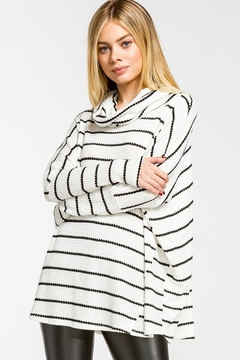 Wild Lilies Jewelry  Striped Cowl Turtleneck - Product List Image