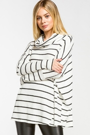 Wild Lilies Jewelry  Striped Cowl Turtleneck - Front cropped