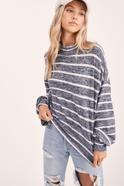 Wild Lilies Jewelry  Striped Crop Turtleneck - Back cropped