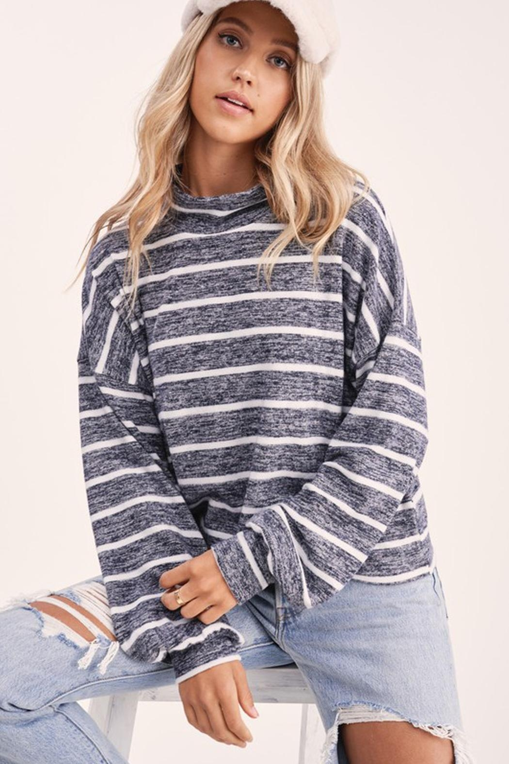 Wild Lilies Jewelry  Striped Crop Turtleneck - Main Image