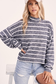 Wild Lilies Jewelry  Striped Crop Turtleneck - Side cropped