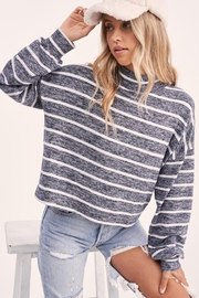 Wild Lilies Jewelry  Striped Crop Turtleneck - Other