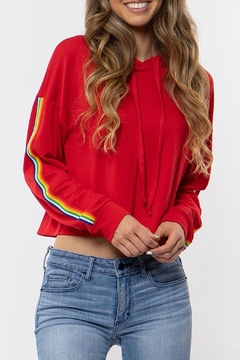 Wild Lilies Jewelry  Striped Cropped Hoodie - Product List Image