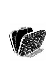 Wild Lilies Jewelry  Studded Silver Clutch - Front full body