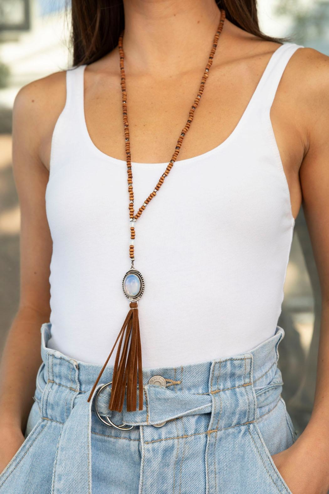 Wild Lilies Jewelry  Suede Tassel Necklace - Main Image