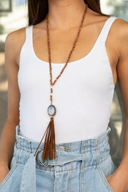Wild Lilies Jewelry  Suede Tassel Necklace - Product Mini Image