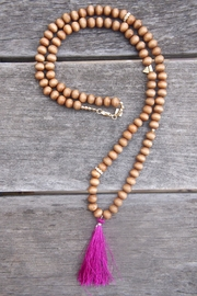 Wild Lilies Jewelry  Tassel Pendant Necklace - Front full body
