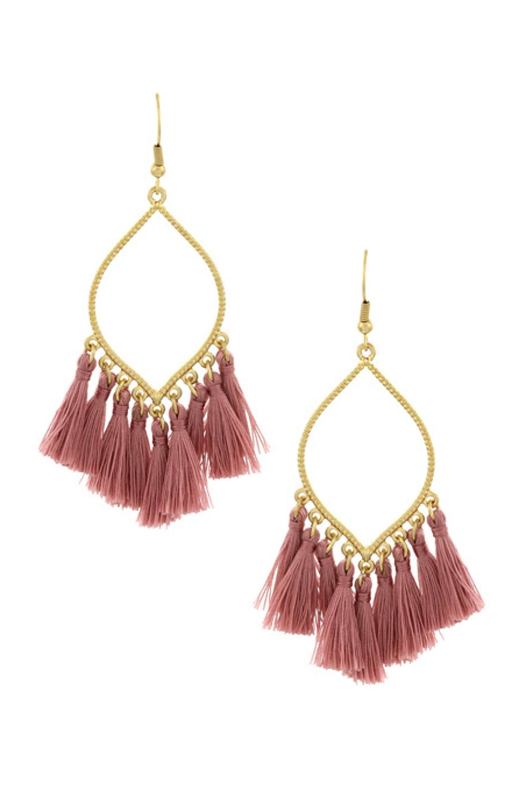 Wild Lilies Jewelry  Tassel Statement Earrings - Front Cropped Image