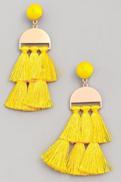 Wild Lilies Jewelry  Tassel Statement Earrings - Alternate List Image