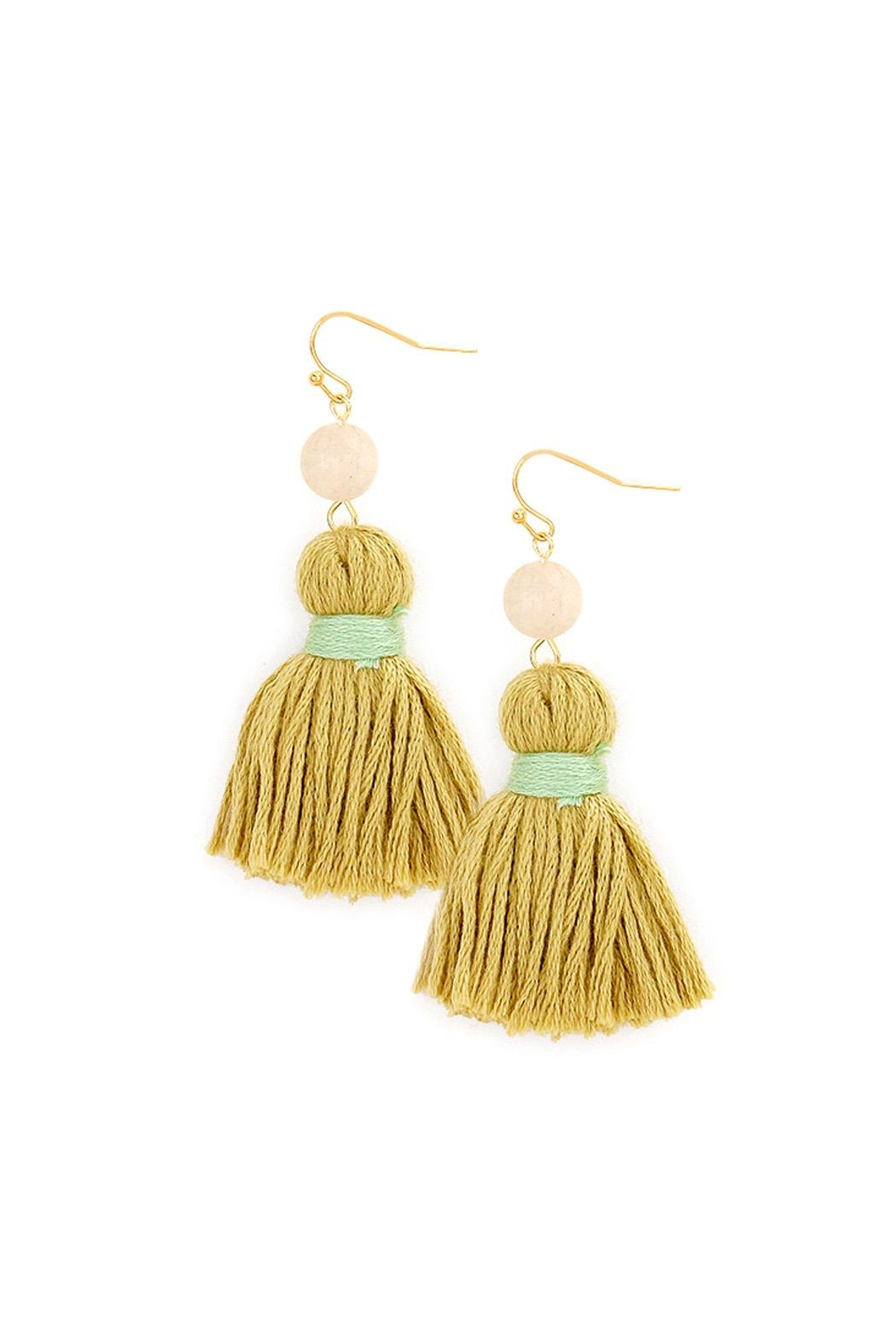 Wild Lilies Jewelry  Tassel Statement Earrings - Main Image