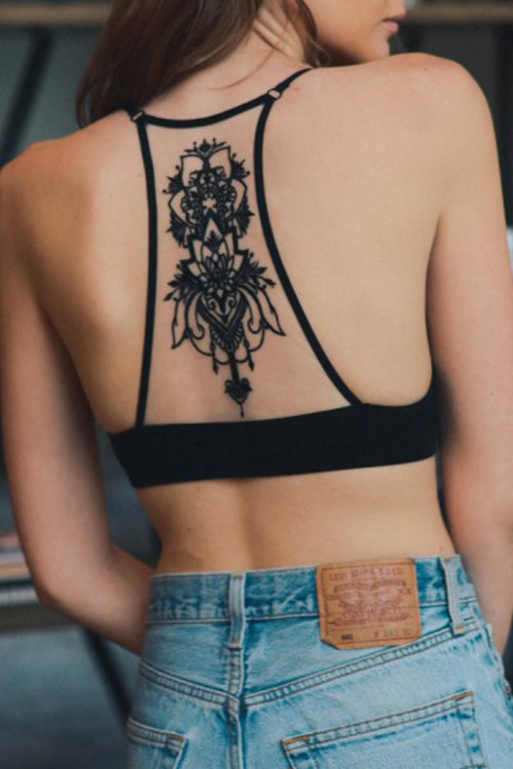 Wild Lilies Jewelry  Tattoo Racerback Bralette - Front Cropped Image