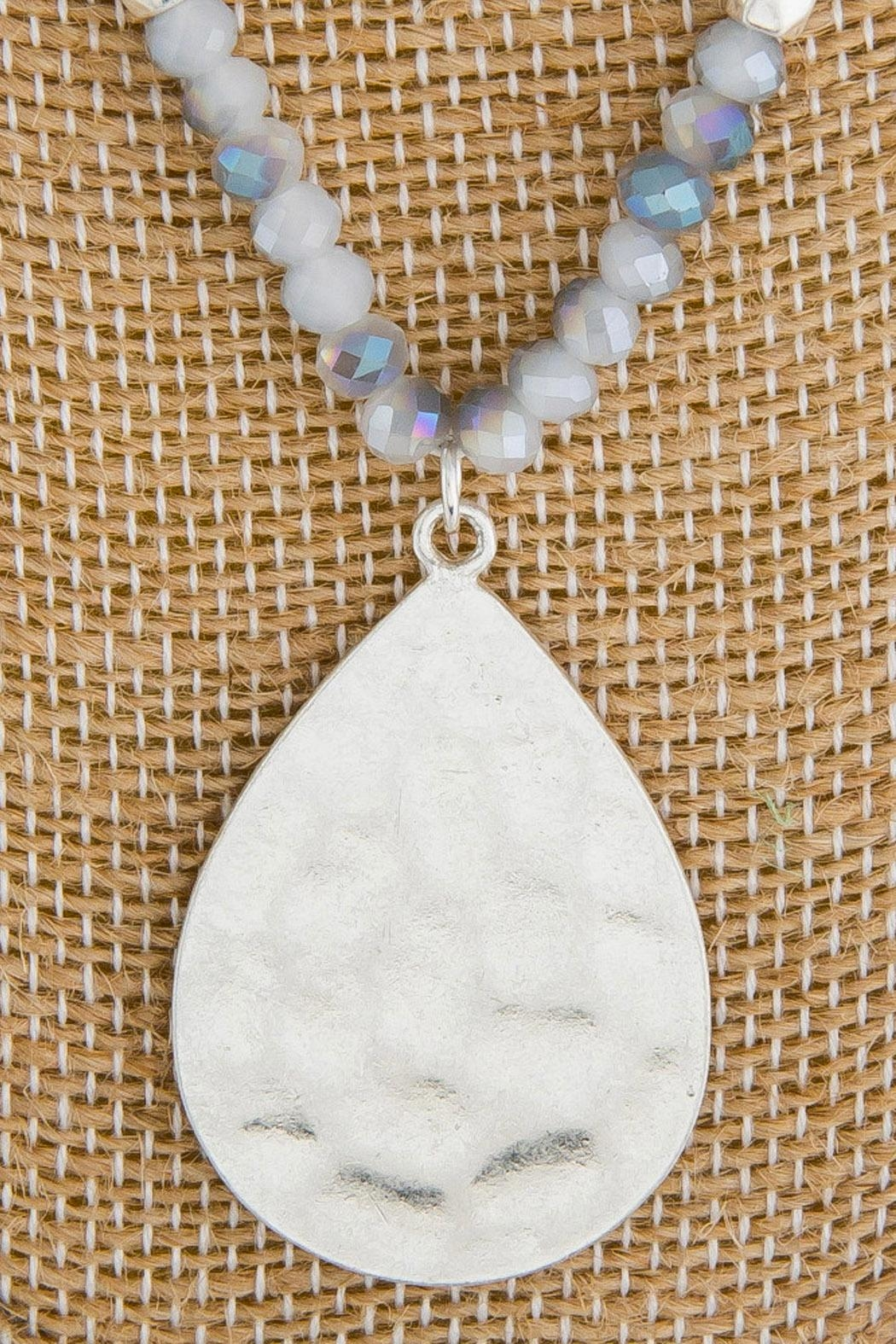 Wild Lilies Jewelry  Teardrop Pendant Necklace - Front Full Image