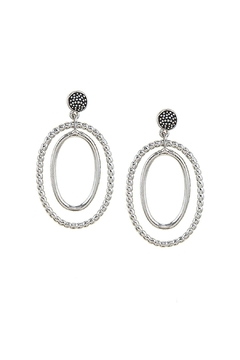 Shoptiques Product: Textured Oval Hoops