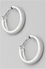 Wild Lilies Jewelry  Thick Silver Hoops - Front cropped