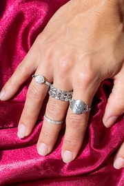 Wild Lilies Jewelry  Three Row Ring - Front full body