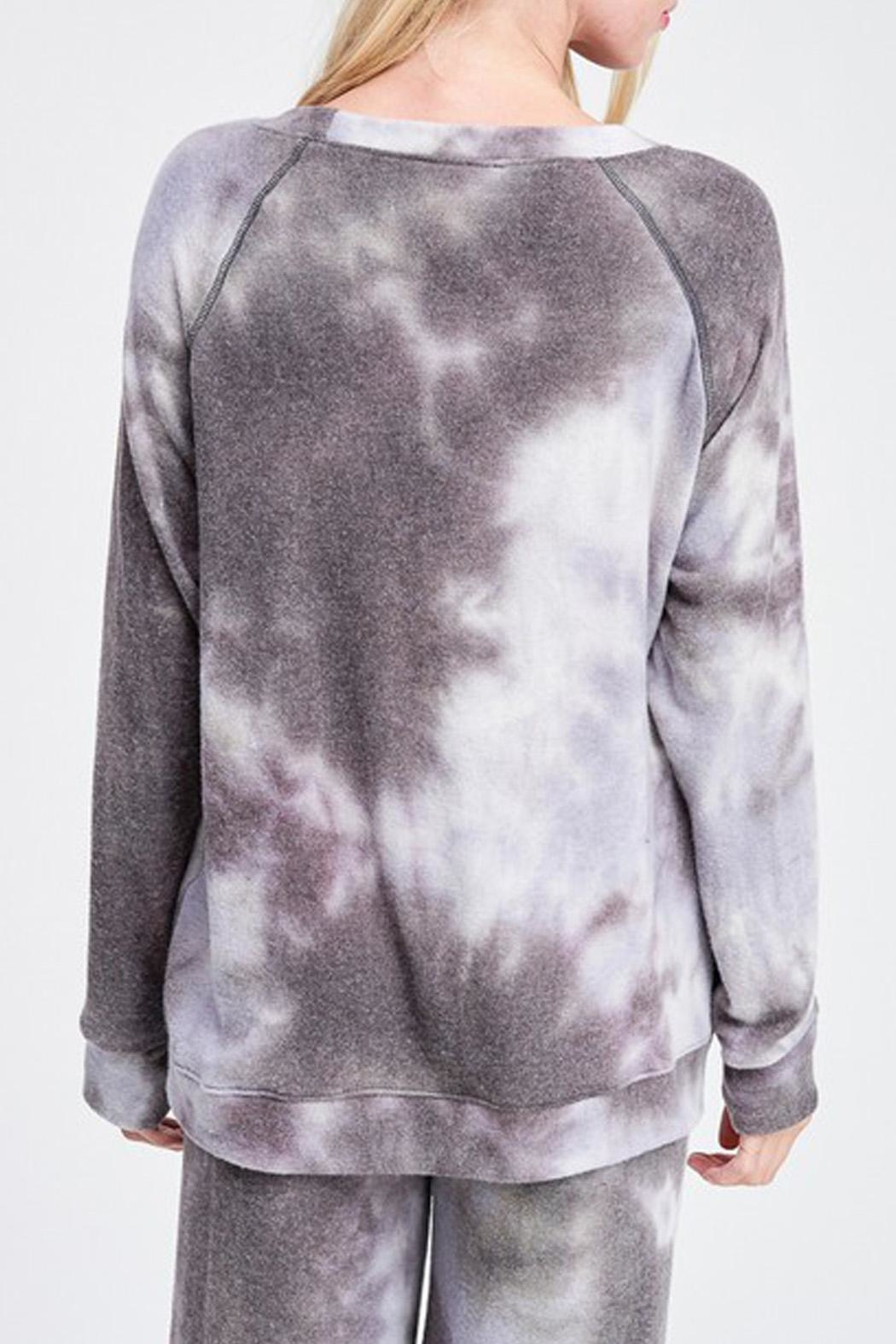 Wild Lilies Jewelry  Tie Dye Sweater - Back Cropped Image