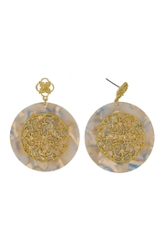 Wild Lilies Jewelry  Tortoise Disc Earrings - Product Mini Image
