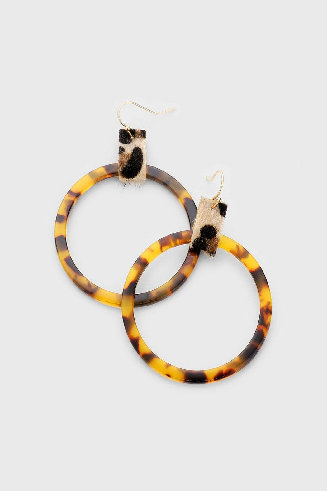 Wild Lilies Jewelry  Tortoise Hoop Earrings - Front Cropped Image