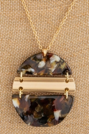 Wild Lilies Jewelry  Tortoise Pendant Necklace - Front full body