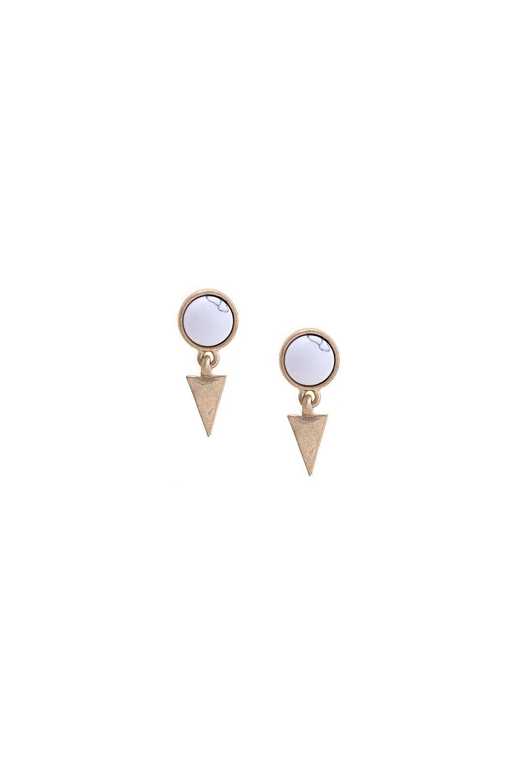 Wild Lilies Jewelry  Triangle Charm Earrings - Front Cropped Image