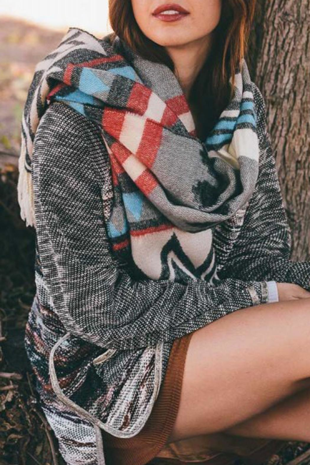 Wild Lilies Jewelry  Tribal Blanket Scarf - Front Full Image