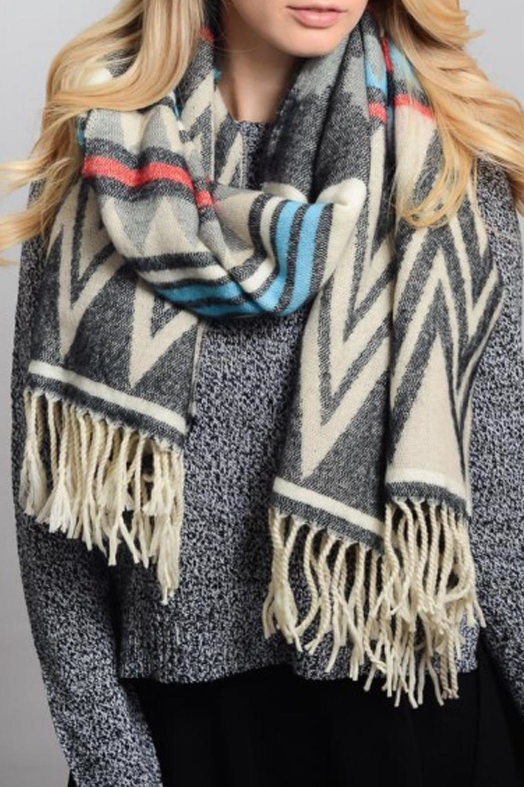 Wild Lilies Jewelry  Tribal Blanket Scarf - Side Cropped Image