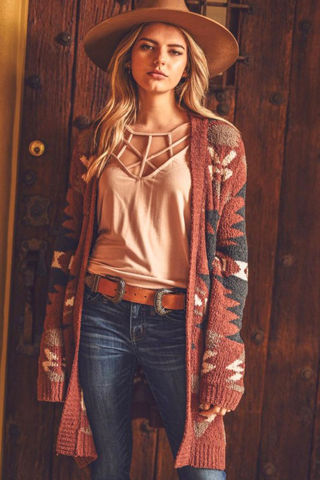 Wild Lilies Jewelry  Tribal Print Sweater - Front Full Image